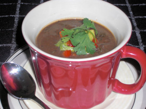 black bean and kale soup picture